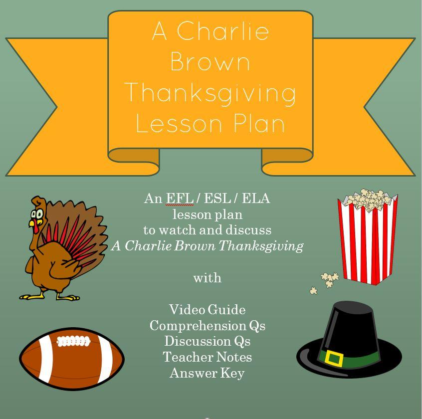 Charlie Brown Thanksgiving Lesson Plan