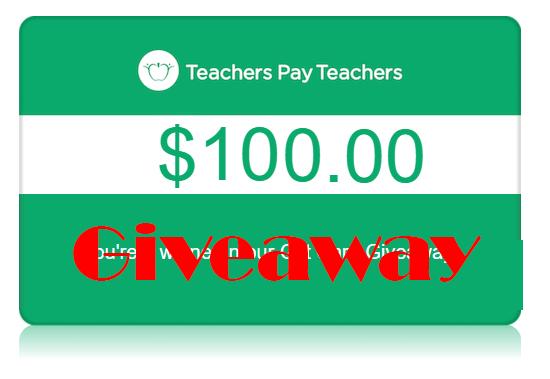 Teachers Pay Teachers Gift Card Giveaway
