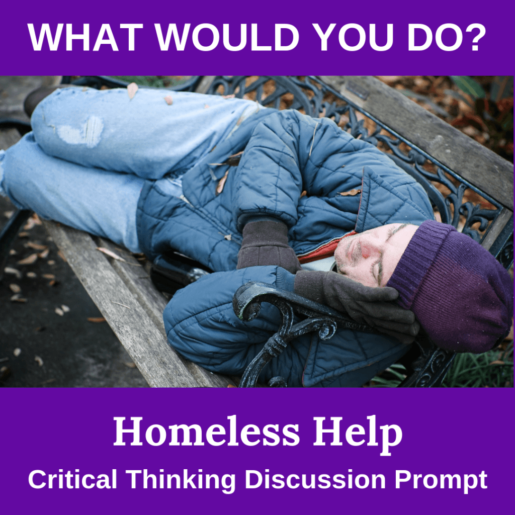 Homeless Help Critical Thinking Thanksgiving Activity for Middle School or High School