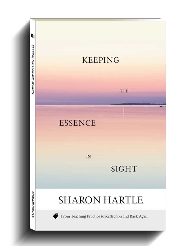 The cover of Keeping the Essence in Sight by Sharon Hartle, a guide to reflective practice in EFL teaching