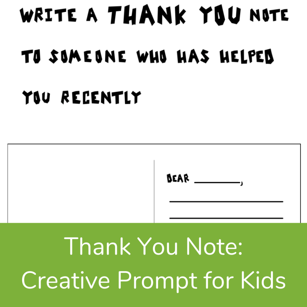 Letter Writing Thanksgiving Activity for kids
