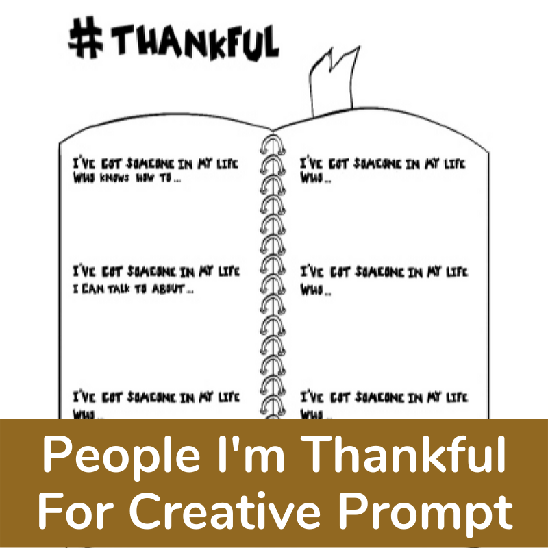 Thanksgiving Activity to express gratitude for special people in my life.